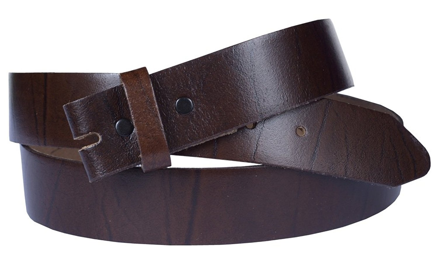 "Belt for Buckles 100% Top Grain One Piece Leather, 1.0"" wide, Made in USA"