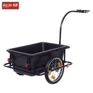 Utility tool cart 90L plastic tray bicycle cargo trailer