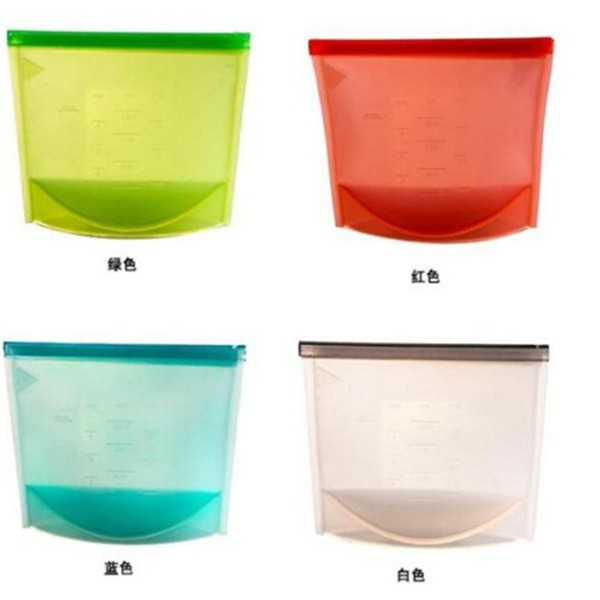 New style silicone evert fresh green bags keep food longer for oven using with zipper fresh vegetable bag