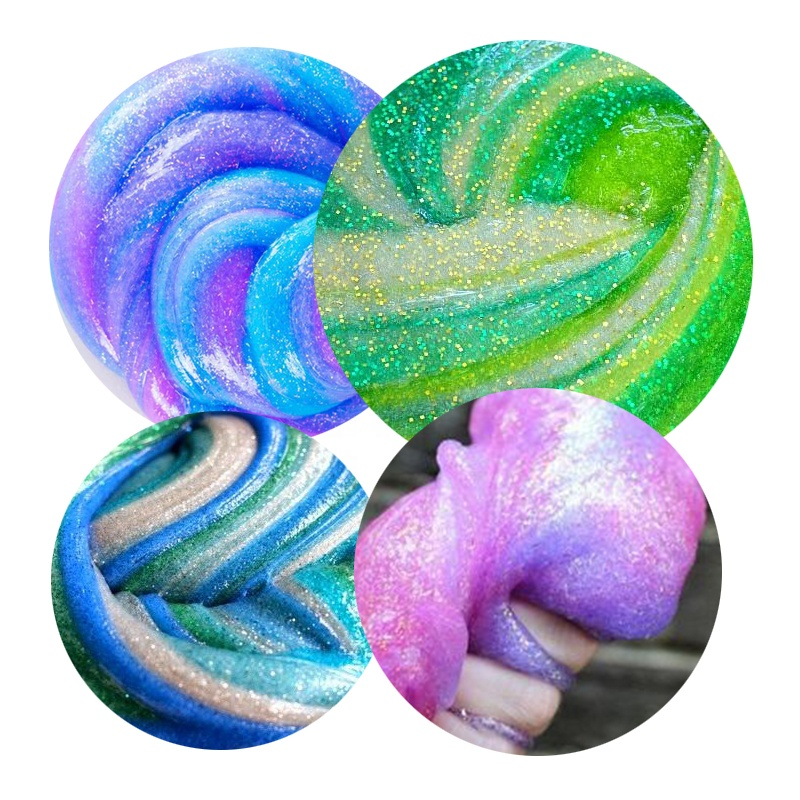 3 Count Great Craft Washable Color Liquid Glitter Glue For Slime