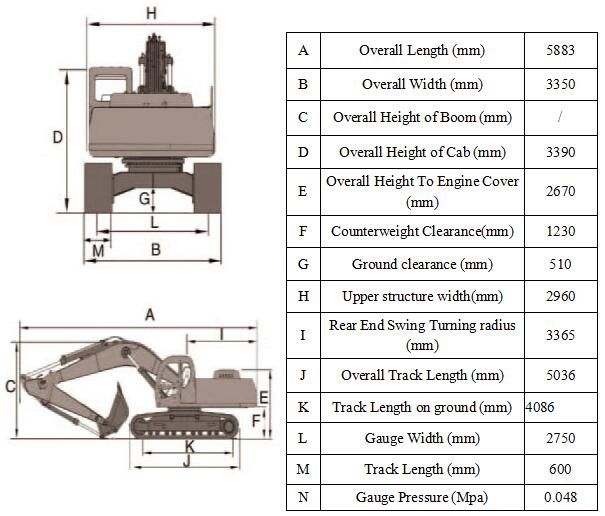 Hot sale new china 40ton Crawler Electric Scrap Handler