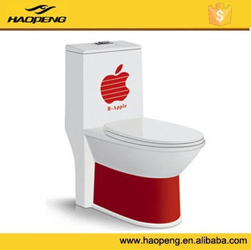 High Quality Color Toilet New-Design Siphon One Piece Green&Yellow &Red&Black Bathroom Toilets