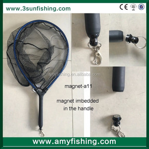 fishing nets magnet imbedded in the handle fly fishing landing net sports