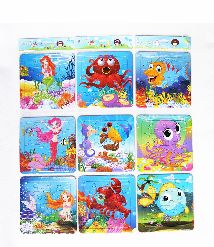 Chinese Factory Wholesale Paper Cardboard Jigsaw Puzzle Cartoon Jigsaw Puzzle Games Baby Toys Paper Jigsaw Puzzle Custom