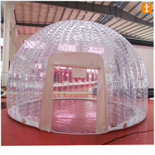Custom design inflatable transparent bubble tent model