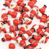 Santa Clause lampwork figure glass beads wholesale for jewelry making and Christmas ornaments