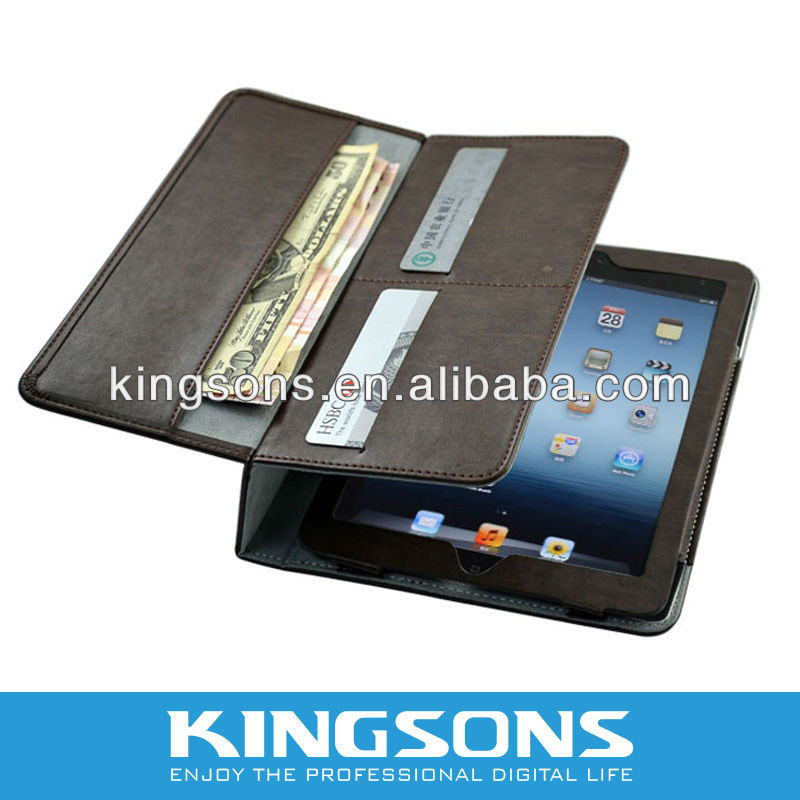 Purse Wallet Style High Quality PU 2 Folding For IPAD Mini Cover Case,Easy to Install and Remove,Variety Of Colors Available