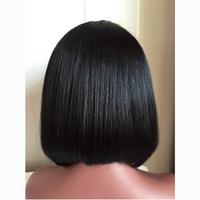 Virgin Brazilian hair kinky twist braided lace wig 10 inch lace front wig bob style