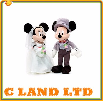 Minnie Mickey Wedding Couple Toy - Buy Wedding Plush Toys,Mickey ...