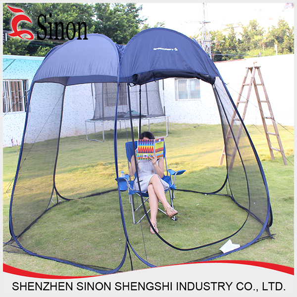 Free Standing Bug Free Outdoor Patio Umbrella Mosquito Net
