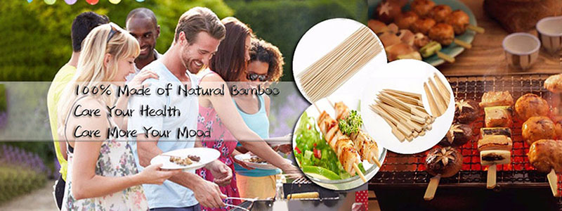 40cm disposable custom barbecue bamboo bbq skewer vietnam