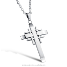 Cheap wholesale high grade laser cut gold stainless steel crucifix pendant
