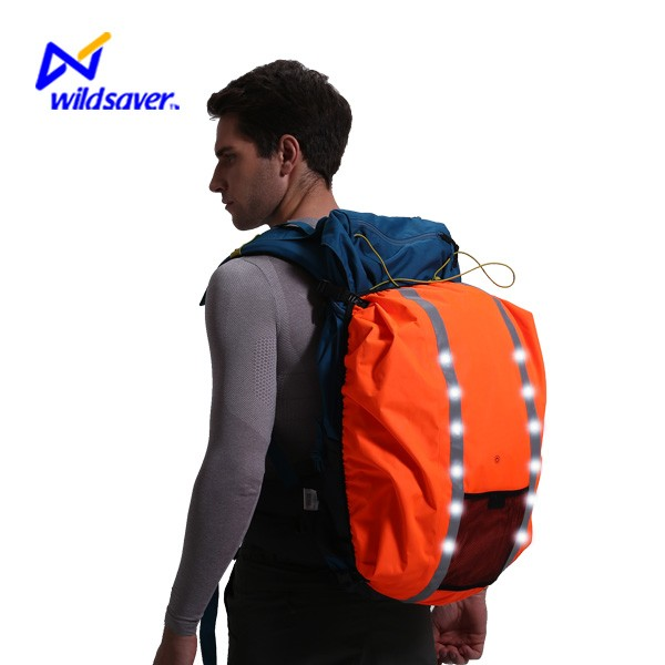 Leisure sports LED reflective waterproof cover for backpack luggage