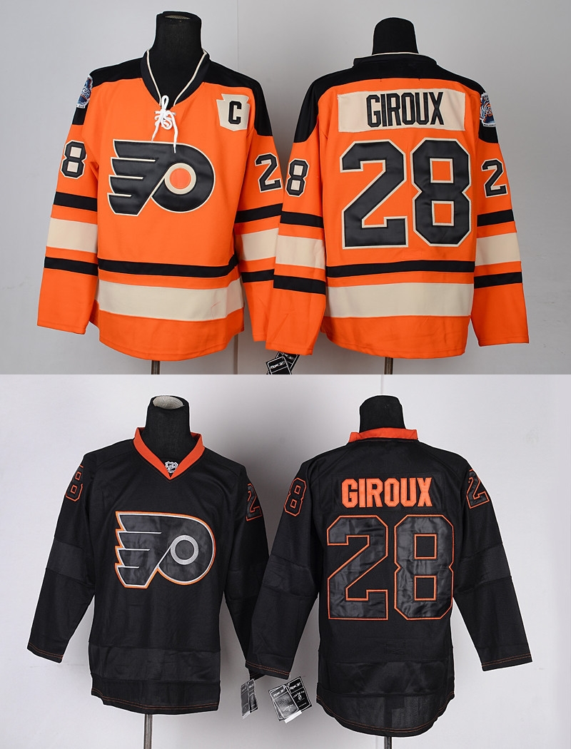 free shipping 6d88f 1645a nhl jerseys philadelphia flyers 28 claude giroux black ice ...