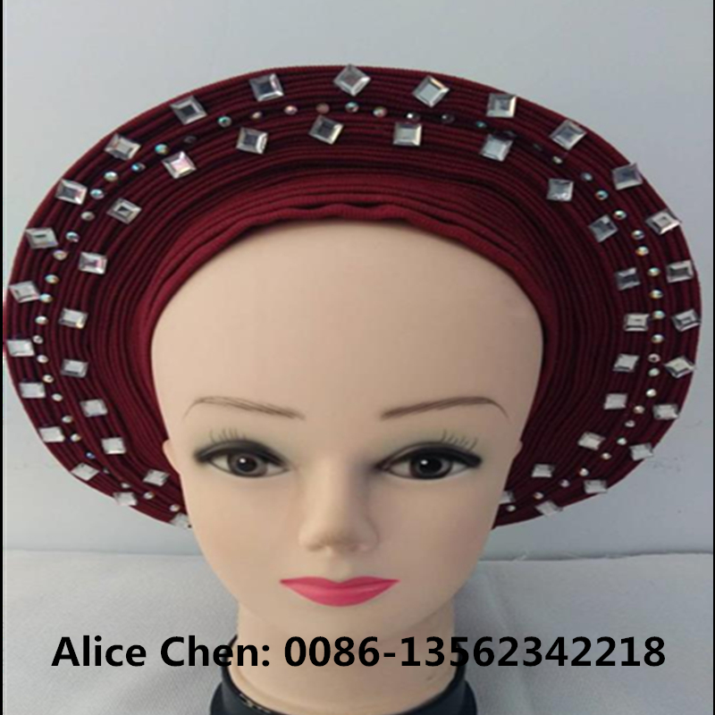 2019  new designs  auto gele  plain  gelAfrican Nigerian  Traditional marriage Dress Ready to Wear Auto Gele-- make to order