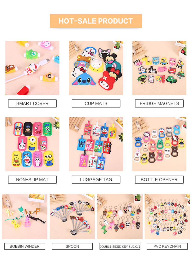 Customized Promotional Gifts Kawaii Cartoon Earphone Cable Winder