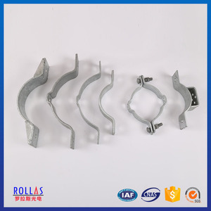 Hebei manufacturer customized metal galvanized pole clamp for electric power line hardware