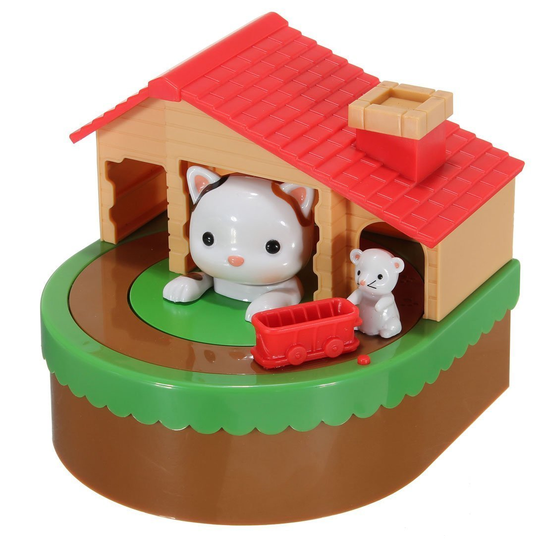 Emperor of Gadgets® Cat and Mouse Coin Saving Bank – Fun Coin Stealing Money Box for Kids