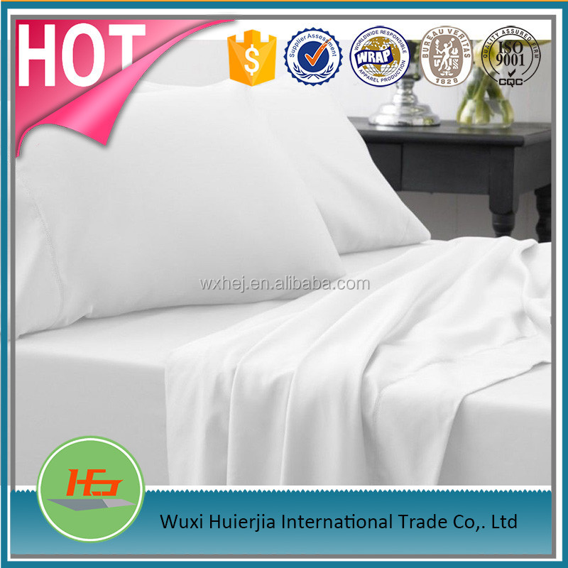 5 stars Pure cotton High end hotel use bleached bed sheet