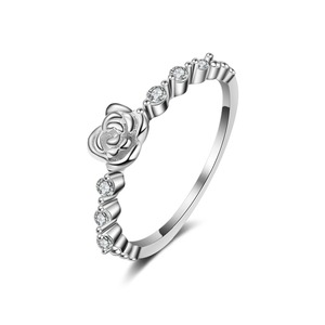 925 Sterling Silver Diamond Ring Women Jewelry Adjustable Knuckle Rings