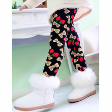2016 New Winter Autumn Thick Warm Girls Leggings Pants Kids children girl's Pants Flower Butterfly thermal trousers
