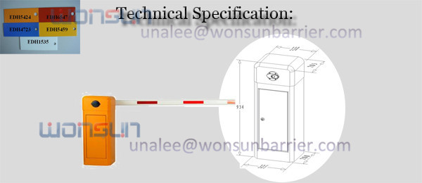 Wstp-115 Series Automatic Boom Barriers Price For Parking And Tolling  System - Buy Boom Barrier,Boom Barrier Price,Automatic Boom Barrier Gate  Price