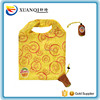 custom kiwi fruit yellow polyester foldable shopping tote bag
