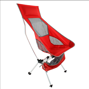 Lightweight Folding High Back Camping Chair with Headrest Portable Compact for Outdoor Camp