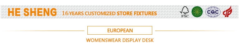 Display table L.clothing store fixtures. european style HB01L03-L