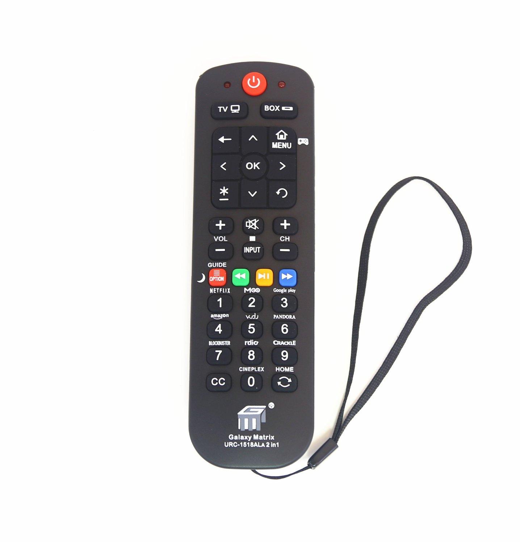 NetTech Universal Streaming Remote (2 in 1) Work for Main Streaming Box, Roku 1 2 3, TCL Roku TV, Sharp Roku TV, Direct TV, Dish, Apple TV, VIZIO Smart TV, Main TV