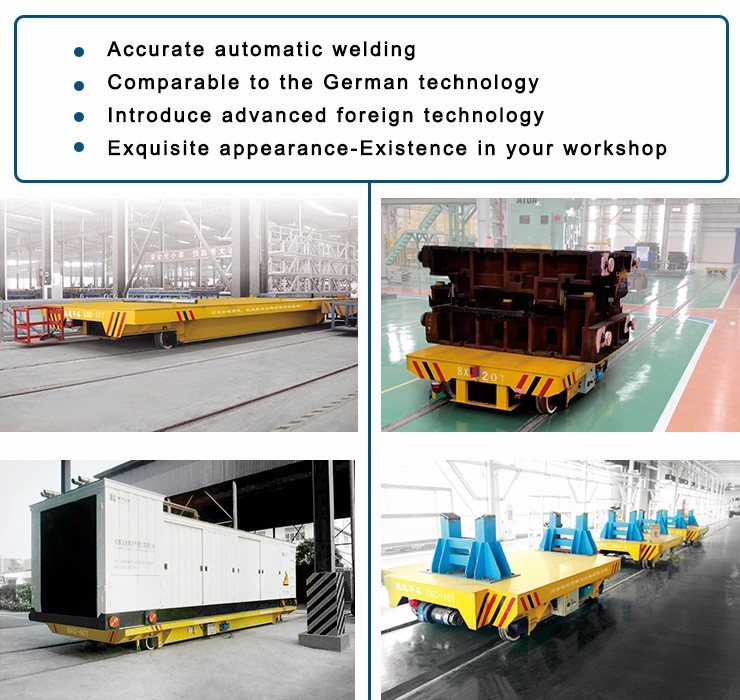 Perpendicularly Intersect Rail Ferry Transfer Car for Material Transport