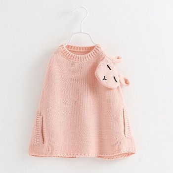 S12423B baby Girls Sweaters Winter Autumn Kids Pullover Knitted Clothes For Girl Sweater children sweaters