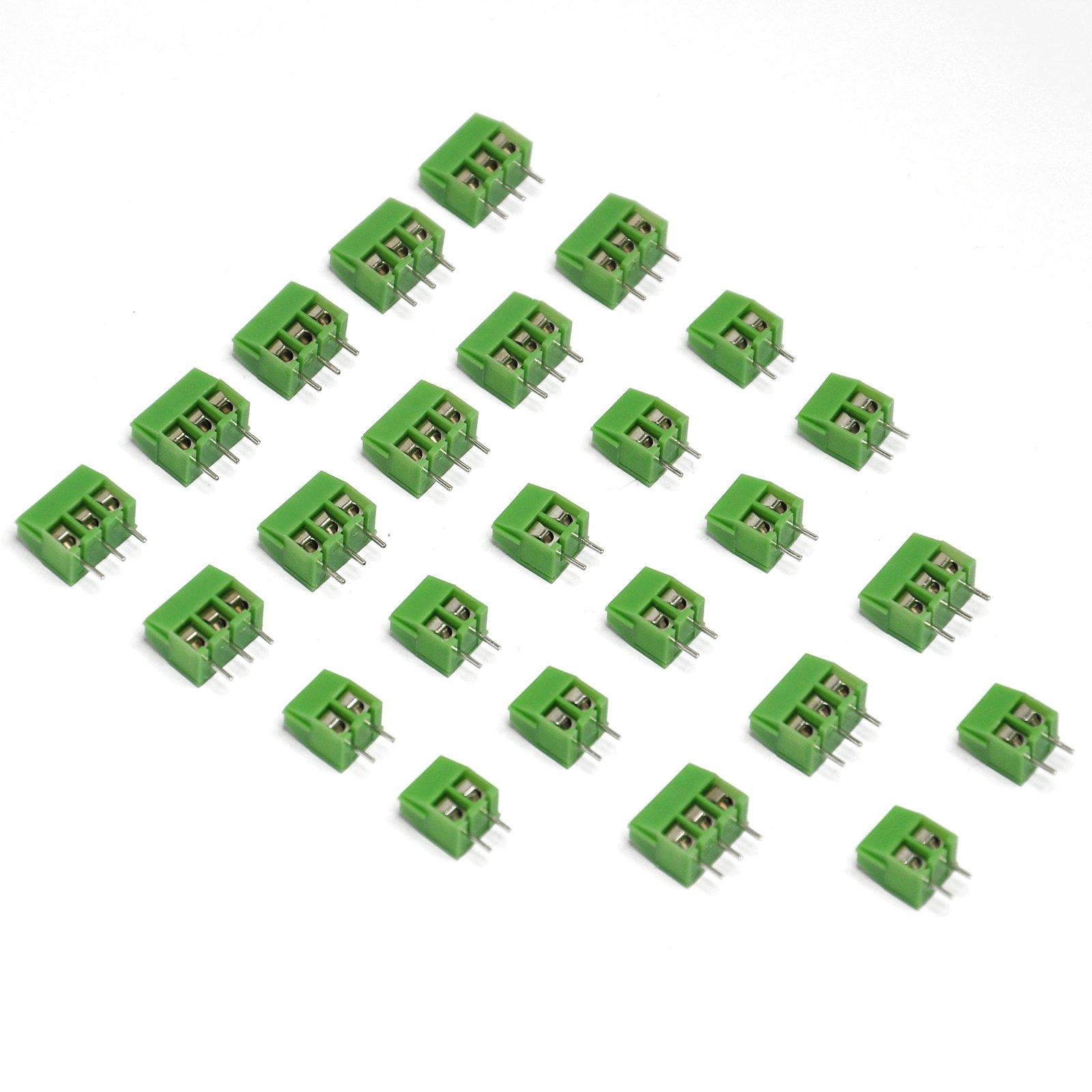 Gikfun 2 Pin and 3 Pin Vertical Screw Header (Pack of 40pcs) for Arduino PCB Shield EK8251