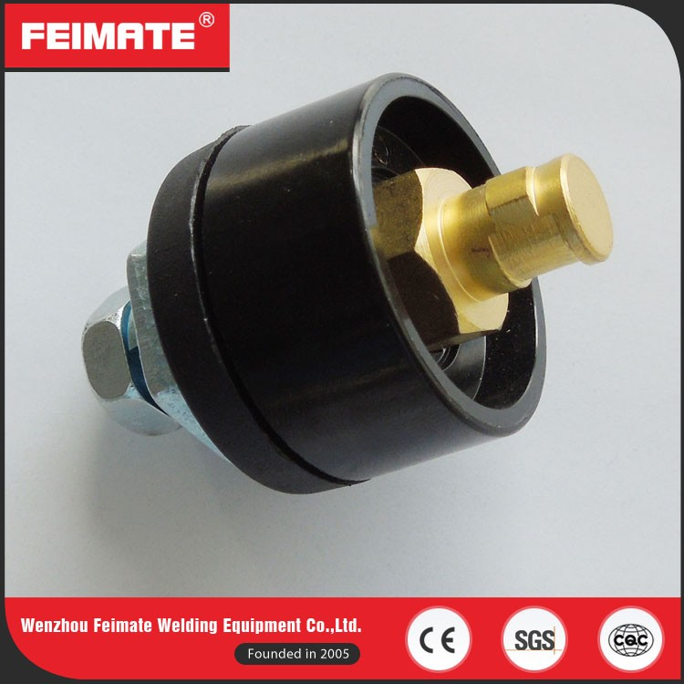 FEIMATE High Quality 10-25 200A Black Welding Cable Socket / Cable Connector
