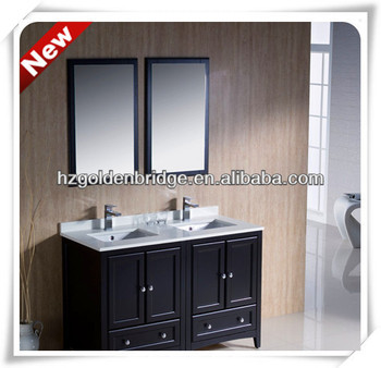 Modern Espresso 48 Inches Double Sink Bathroom Vanity For
