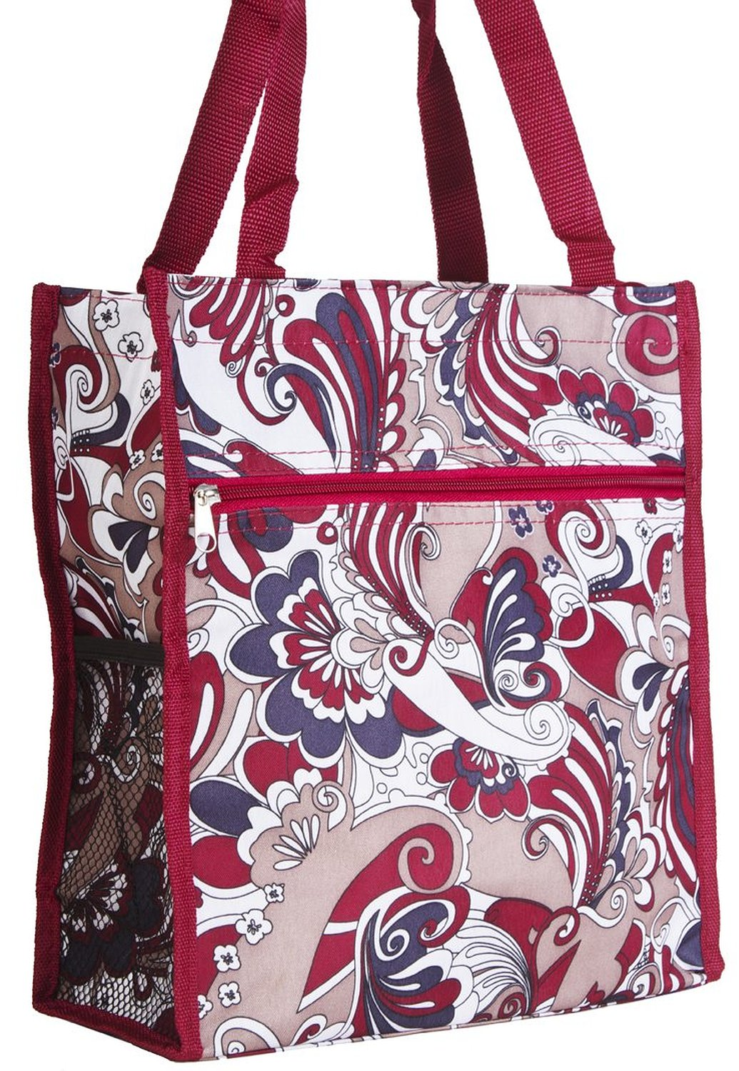 c6e713231a Get Quotations · Red Paisley Travel Tote Bag with Coin Purse