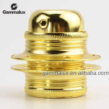 E27 Metal Iron Lamp Holder Golden Colour lamp holder types