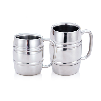 Big Capacity Beer Mugs Milk And Coffee Cup Stainless Steel Double Wall Tea Cups Camping Mugs With Handle 350ml 550ml