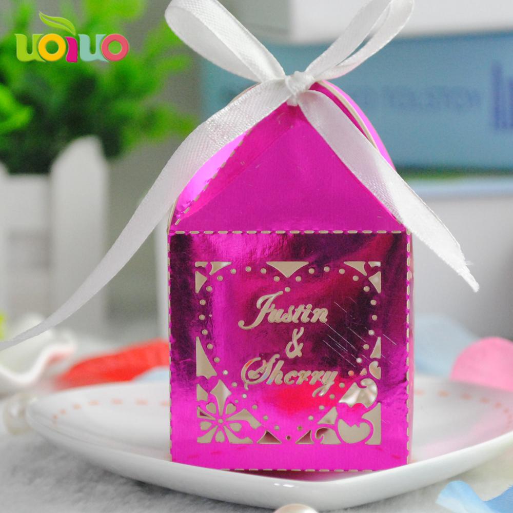 Venta caliente boda favores de fiesta recuerdos regalo del papel de ...