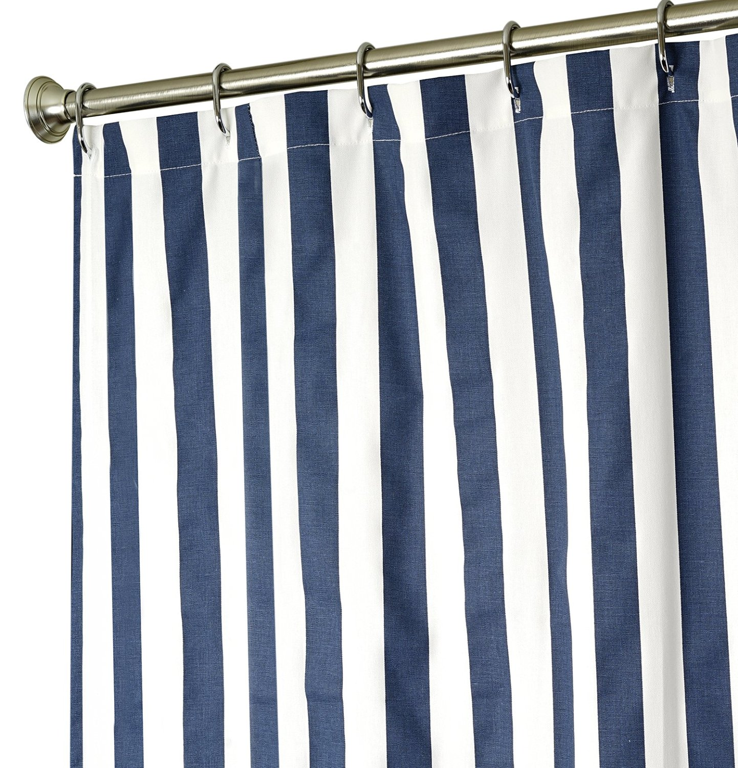 Extra Long Shower Curtain Fabric Curtains Blue And White Striped 96