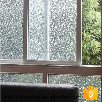 Charmant Privacy Frosted Static Window Tint NO Glue Glass Film Home Bedroom