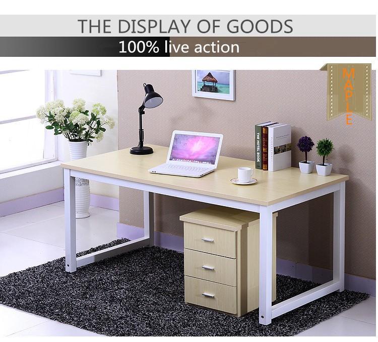 Einfache stahl holz computertisch von modernes design for Holz computertisch