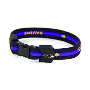 NFL Baltimore Ravens Titanium Sport Bracelet