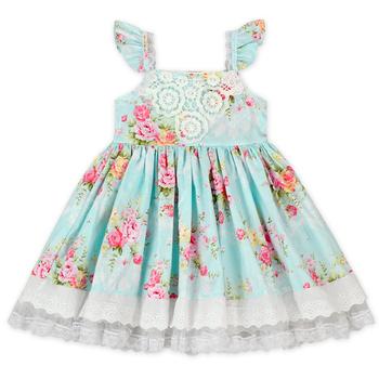 7587e37d405da73 Детское кружевное платье с цветочным рисунком летние платья для девочек  Детские хлопковые платья дизайнов