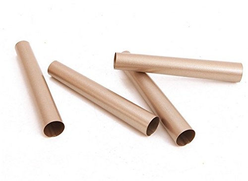 """Astra Gourmet 4pcs Nonstick Carbon Steel Round Danish Bread Tube Mold Cannoli Forms, 5.3"""" x 0.8"""", Champagne Gold"""