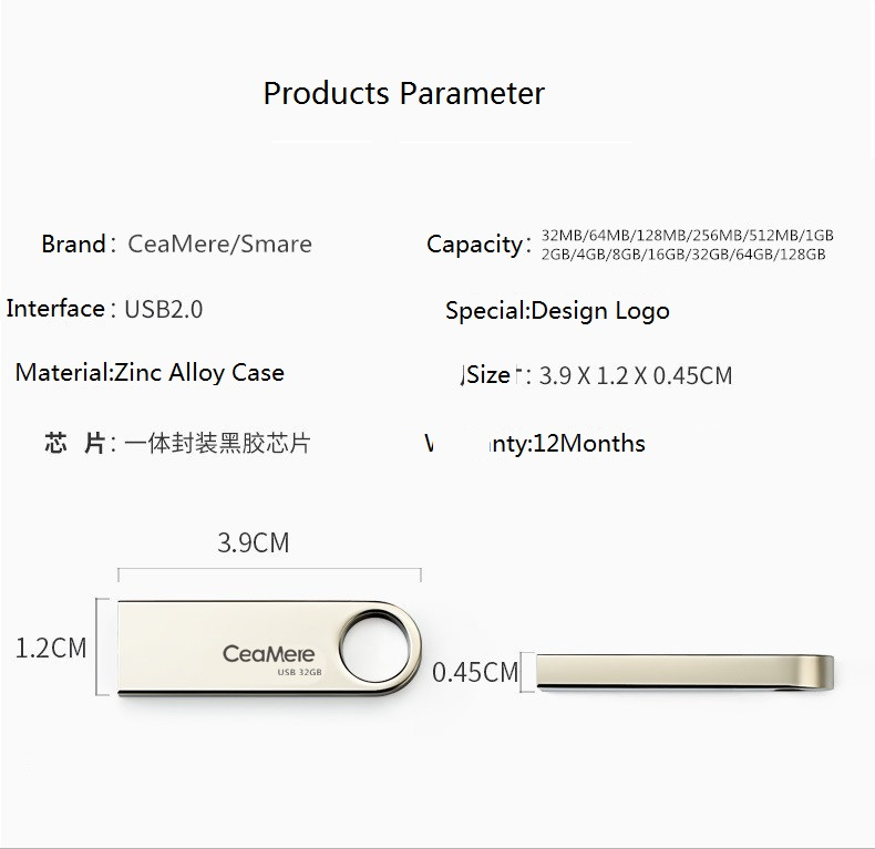 2019 Best sell Free Printing Logo 2gb Flash Disk Drive Bulk good price