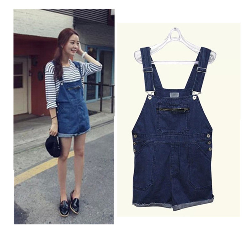 97254f921c58 Buy Playsuit Top Time-limited 2015 Casual Women Shorts Girl Washed Loose  Flanging Jeans Denim Jumpsuit Romper Overall Overalls 383 in Cheap Price on  ...