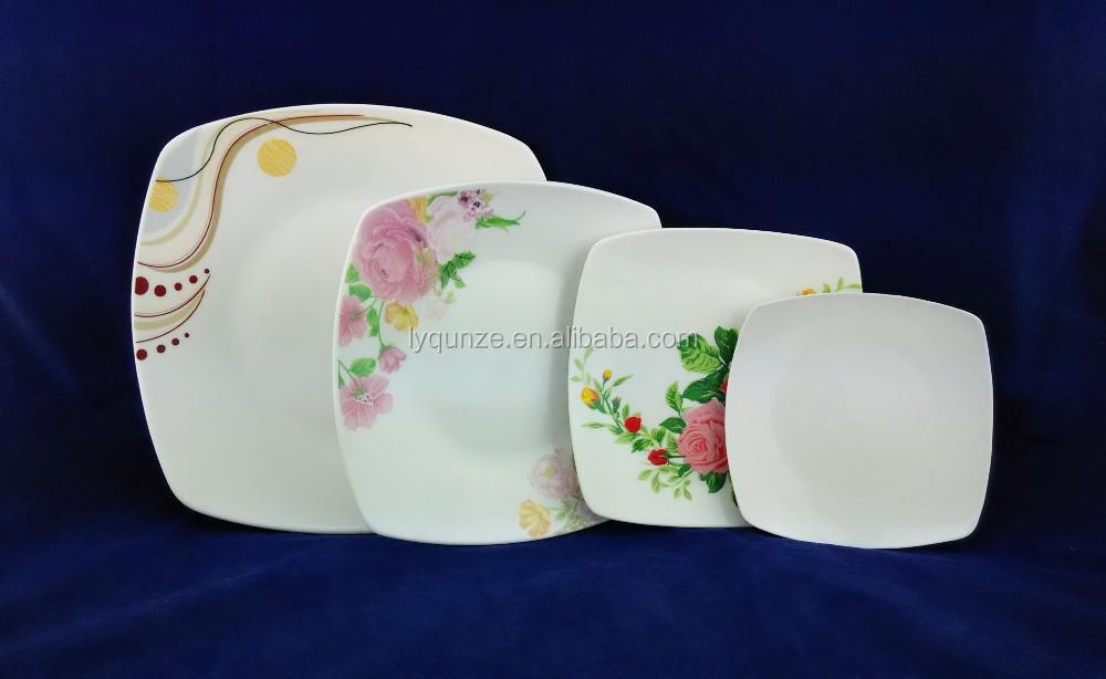 Material de placa cuadrada de porcelana cer mica cuadrada for Platos cuadrados de porcelana