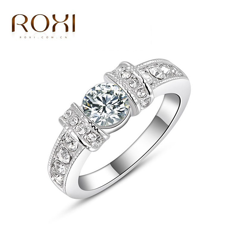 White Gold Simulated Diamond Eternity Ring