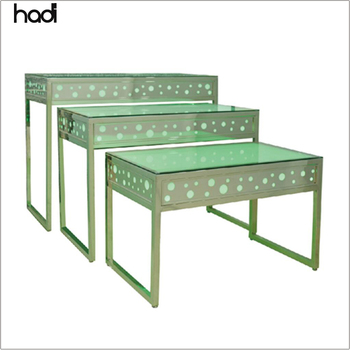 Cafeteria equipment customized commercial restaurant buffet table hadi , led lights folding buffet table in hotel